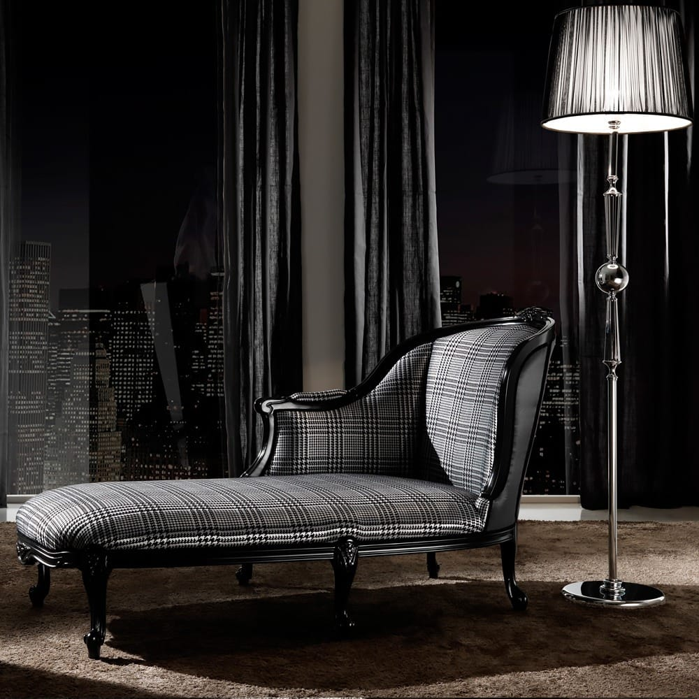 Classic-Houndstooth-Louis-High-End-Designer-Chaise-Longue-1