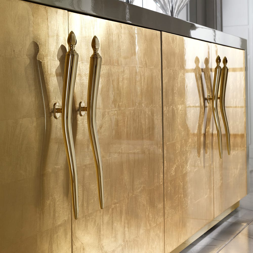 Large sideboard gold leaf and lacquer finish