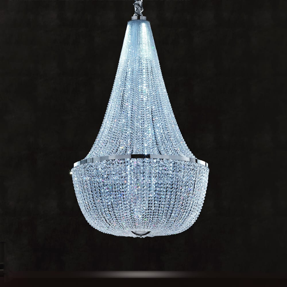 swarovski crystal empire basket chandelier