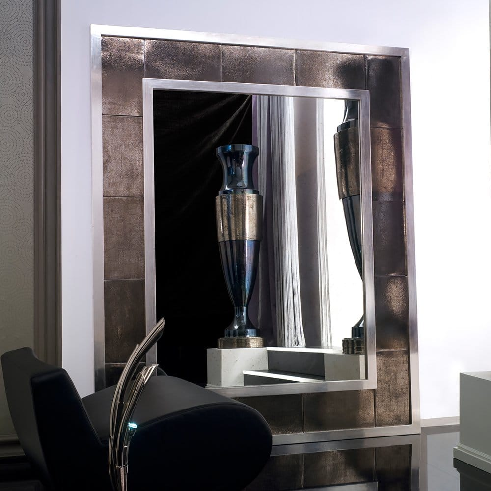 platinum plated finish italian mirror