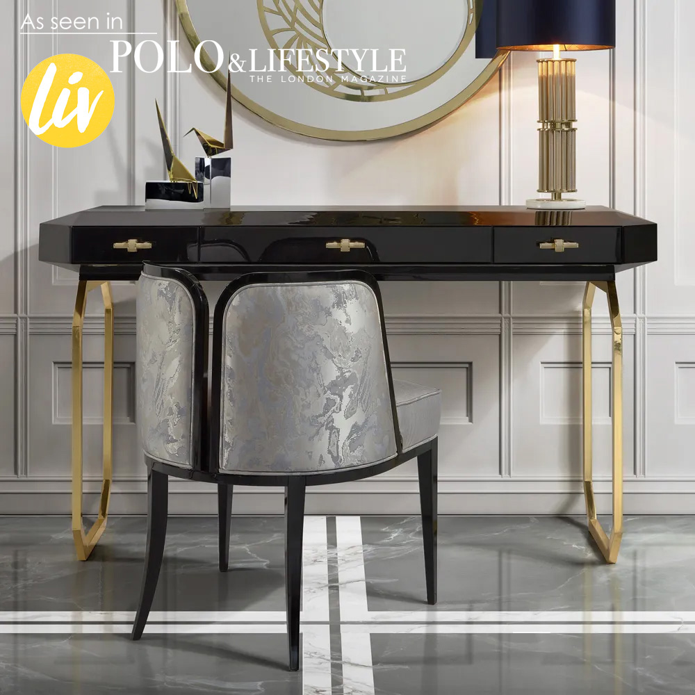 new Luxe Collection, High End Art Deco Reproduction Designer Console Table