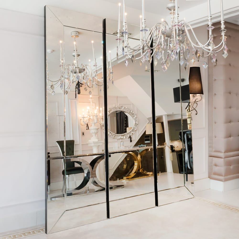 Large Mirror, Venetian Style Sectional
