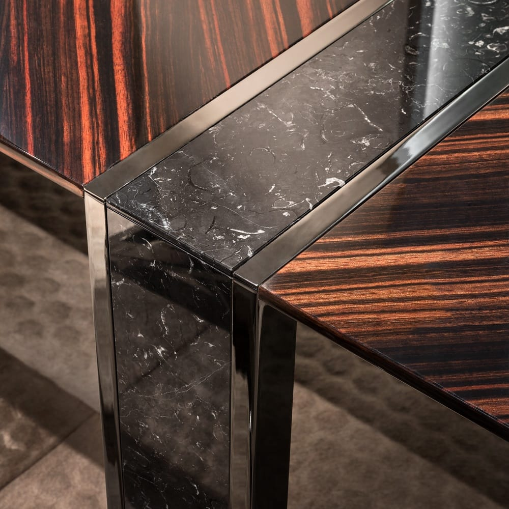 ebony desk with marble finish insert