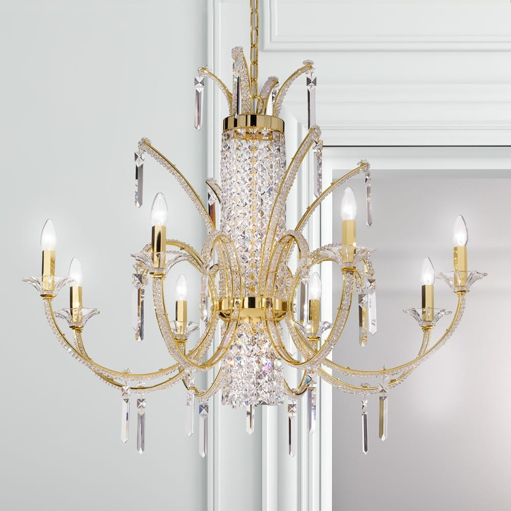 neoclassical crystal gold chandelier