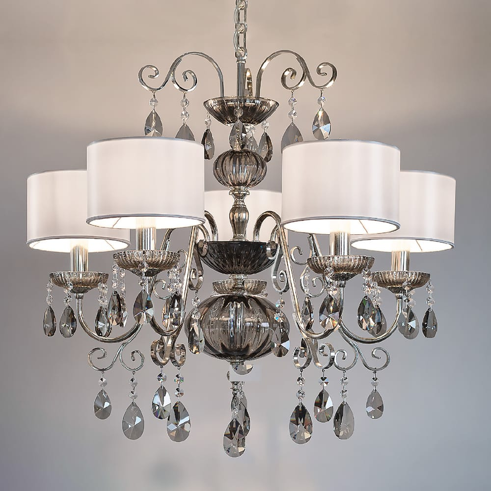smoked glass flemish style chandelier