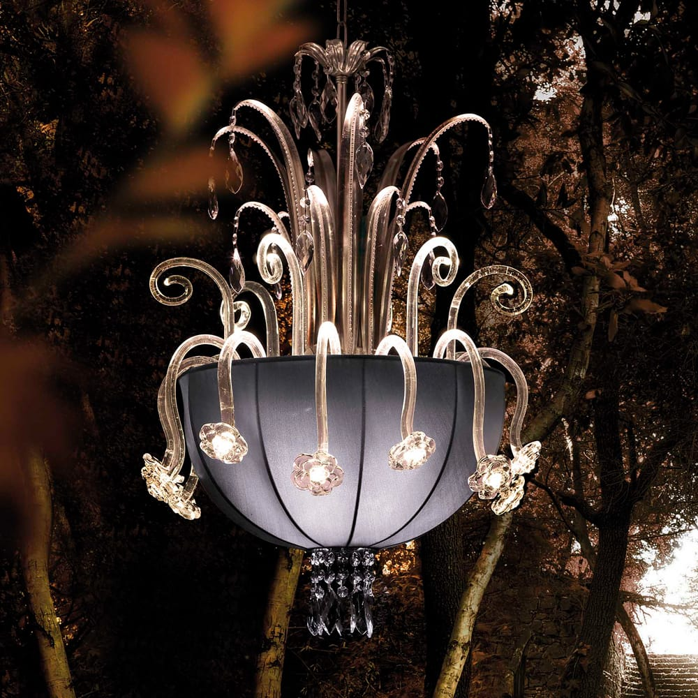 venetian glass swarovski crystal chandelier