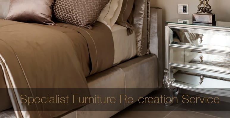 Furniture Sourcing Specialists, luxury bed with mirrored bedside cabinet