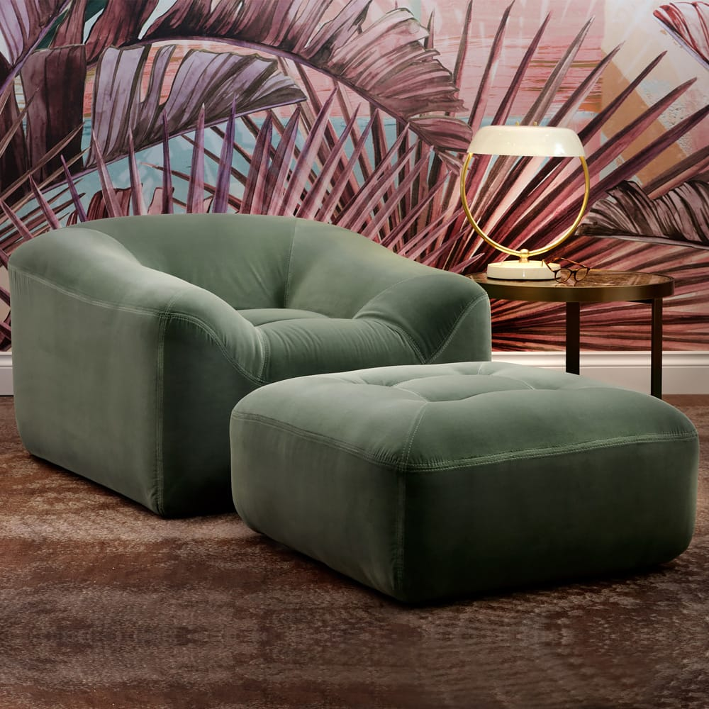 2018-Trends-sage-green-oversized-chair-and-pouffe