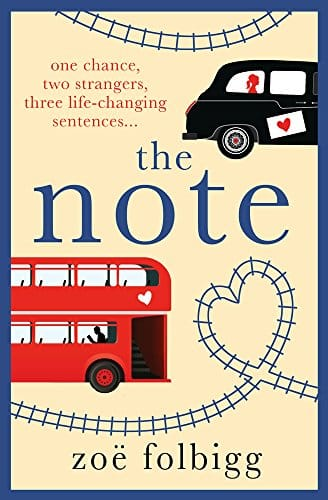 The Note by Zoe Folbigg, front cover, holiday reading