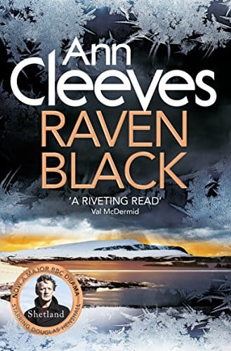 Raven Black by Ann Cleeves, front cover, holiday reading