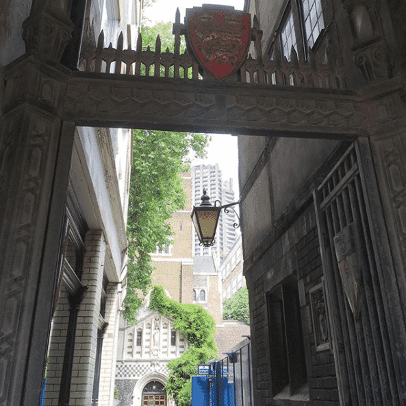 Entrance to St Bartholomew the Great hidden gem London Festival of Architecture 2018