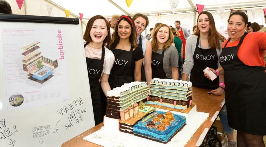 Benoy Barbicake winners of the Great Architectural Bake Off London Festival of Architecture Round Up