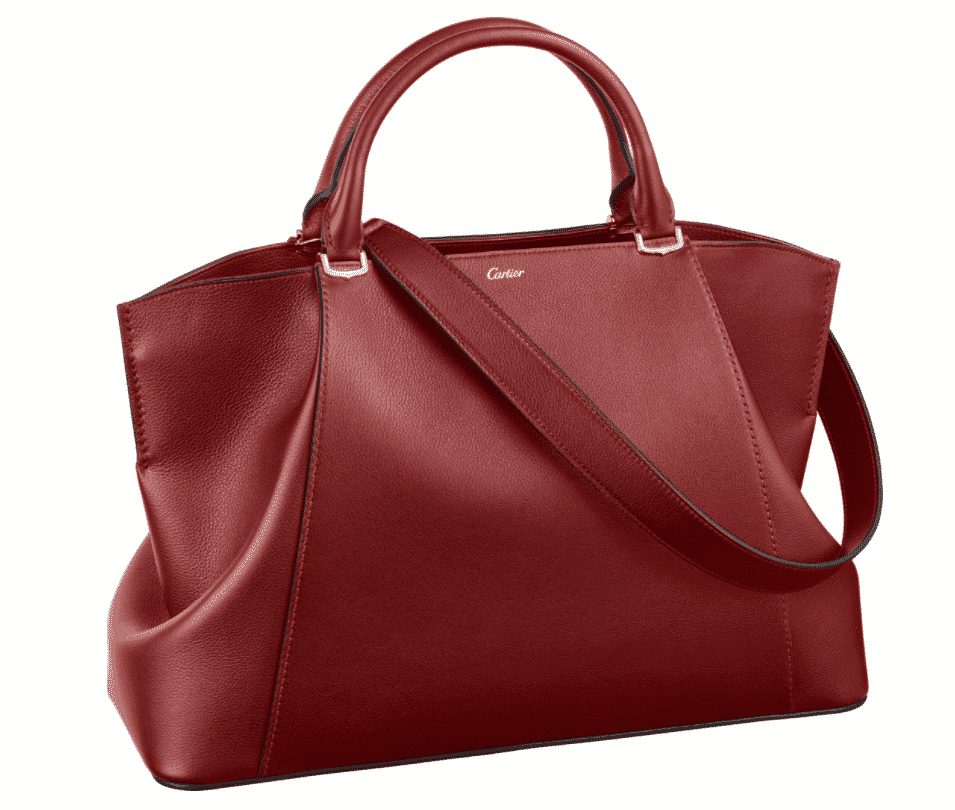 C de Cartier medium red leather tote mother's day