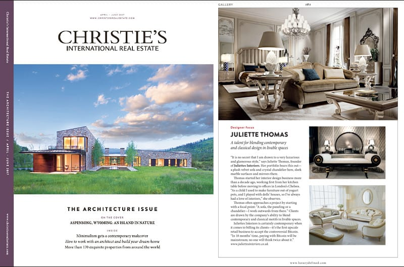 As Seen In Christies Real Estate Magazine