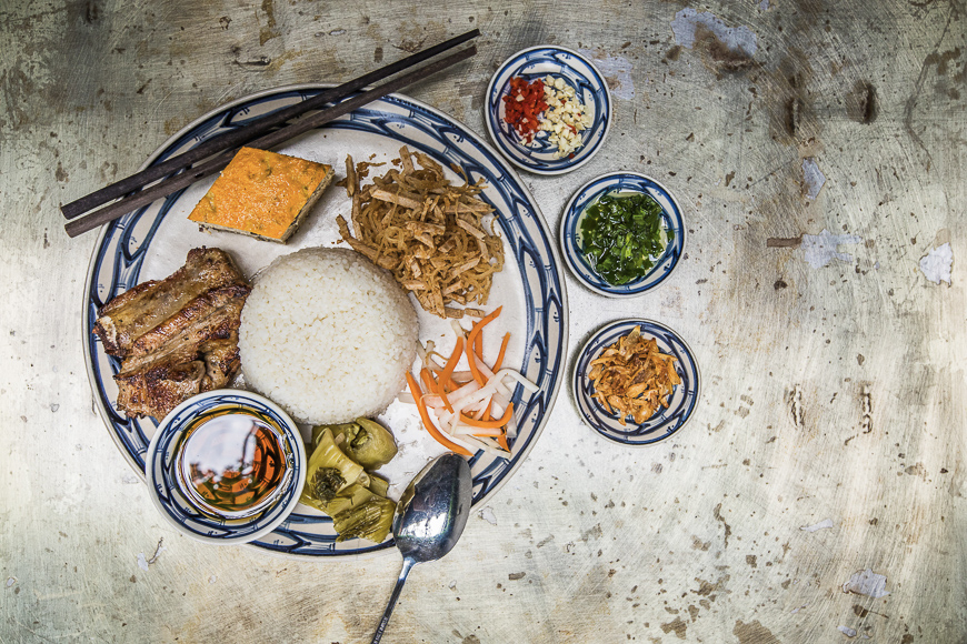 Vietnam, food, com tam, broken rice