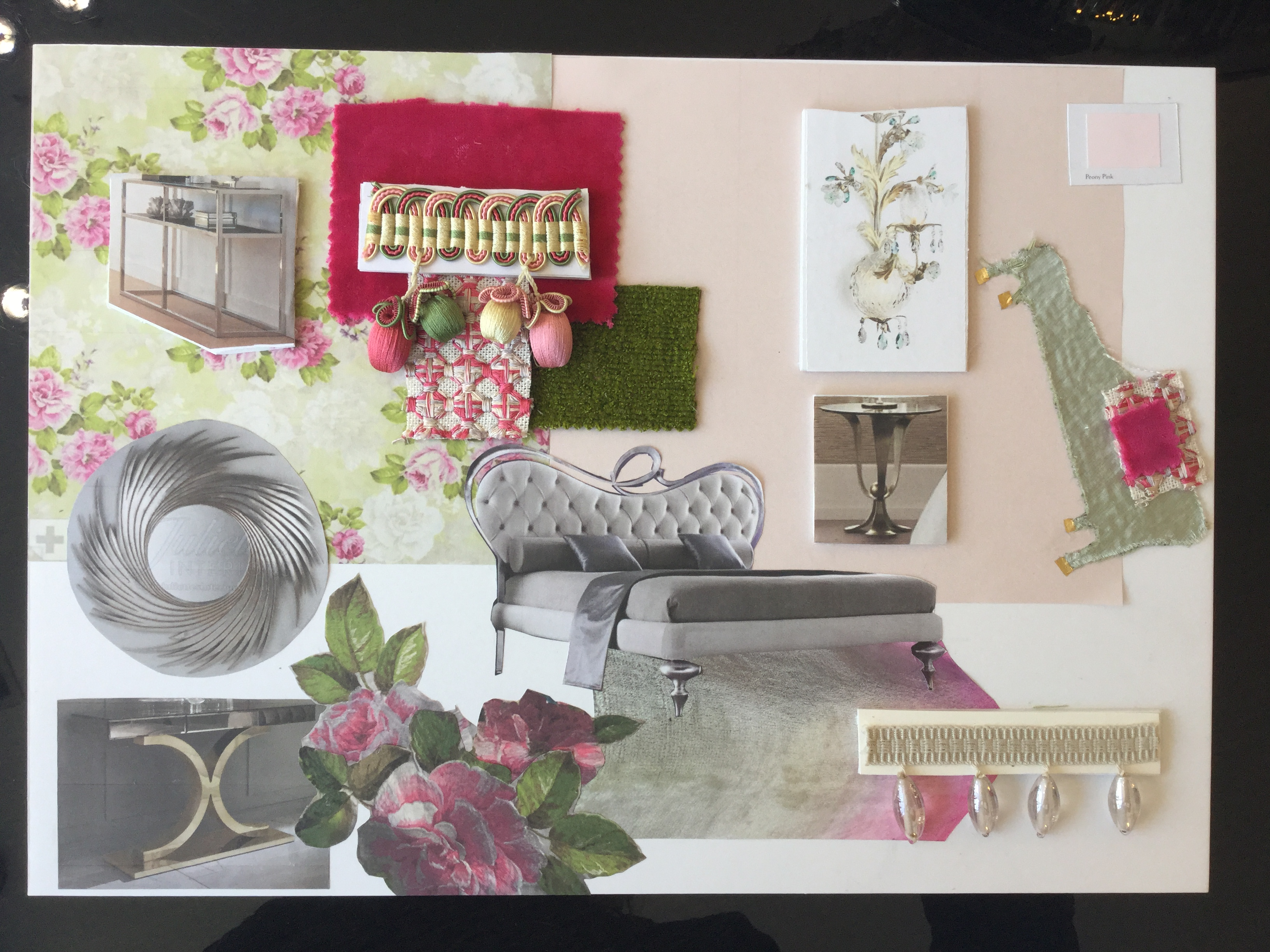 Interior Design Course, Day 5, moodboard
