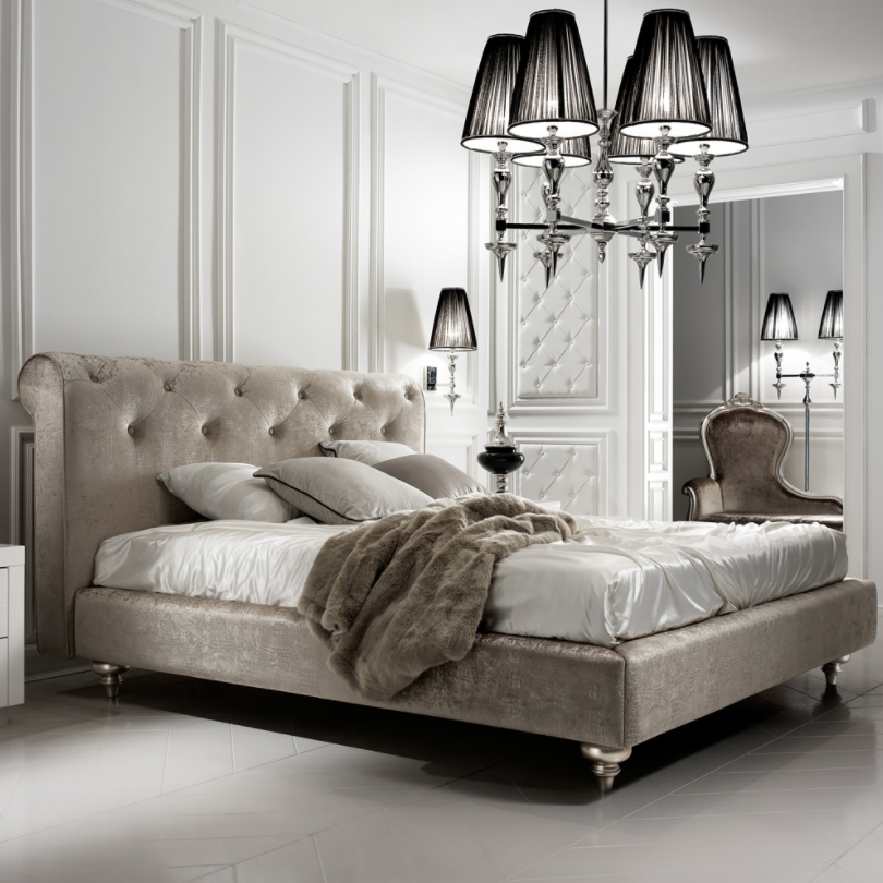 Designer Velvet Italian Guest Bed by Juliettes Interiors