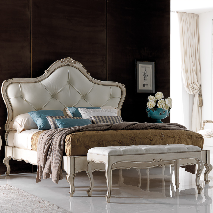 Be the Perfect Guest Embellished Italian Leather Guest Bed by Juliettes Interiors