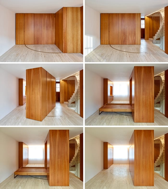 Flexible House pivoting cabinet converts office to bedroom, RIBA Awards 2018