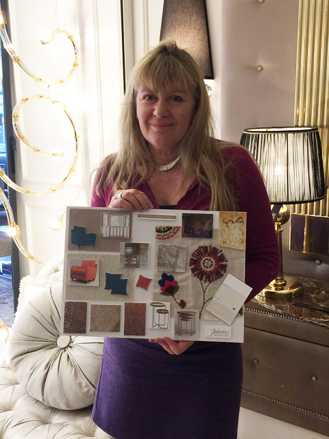Interior Design Course, Alison Gibb with her living room mood board