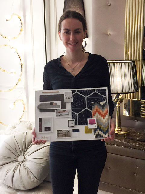 Interior Design Course, Gemma Oganian with her TV room mood board
