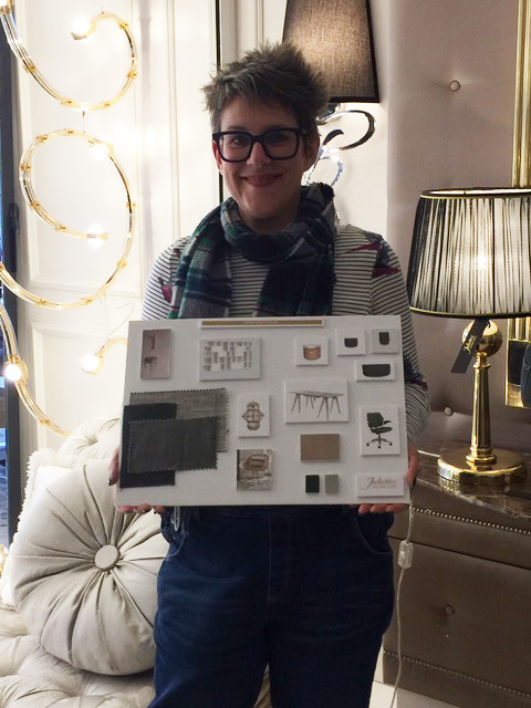 Interior Design Course, Stacey Sheppard with her garden room and office mood board