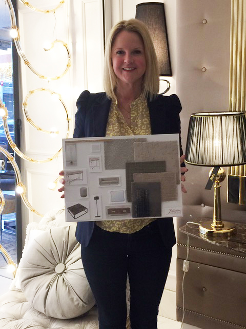 Interior Design Course, Sally Stickland with her master bedroom mood board