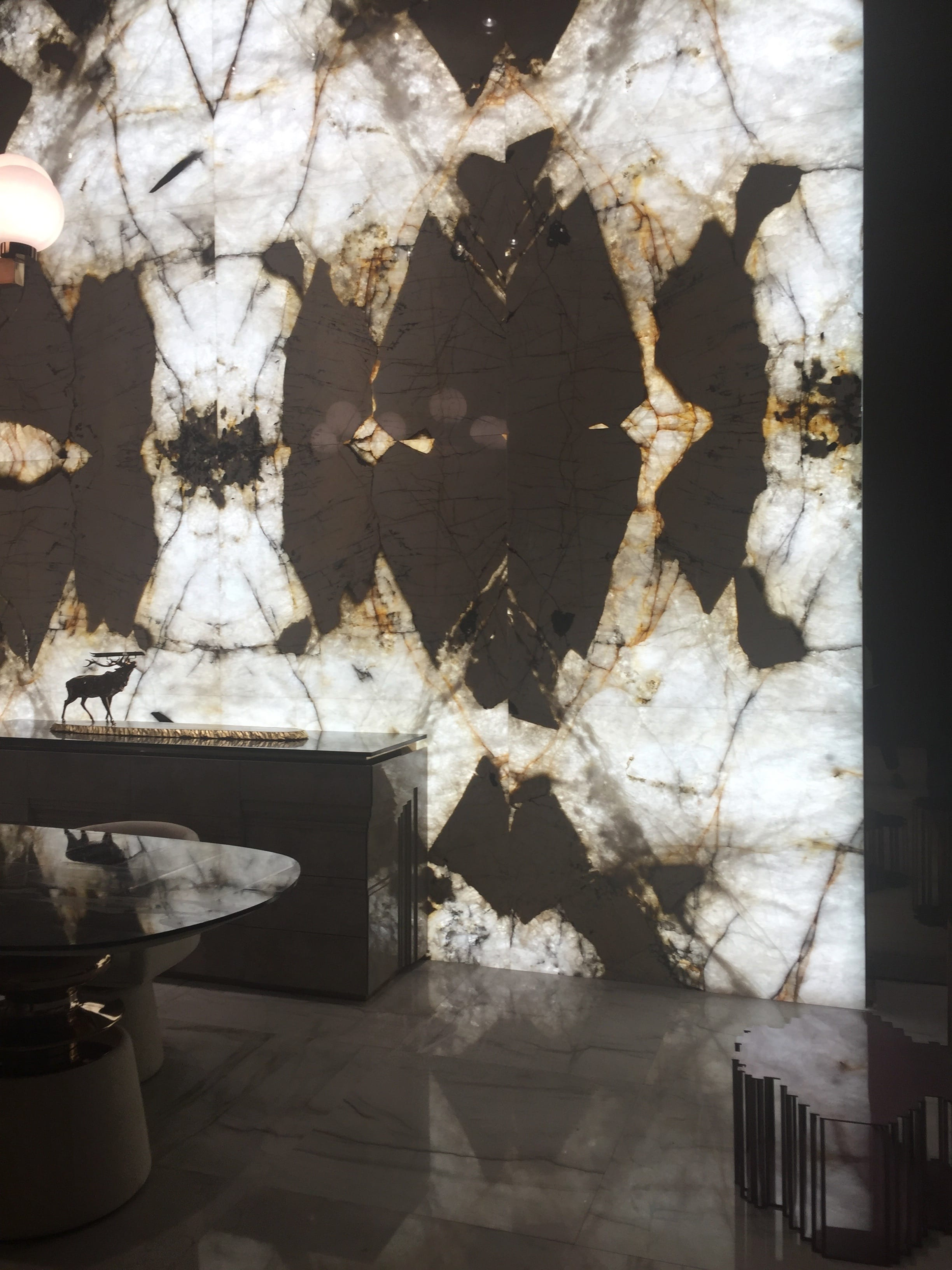 milan update black white highly patterned marble wall