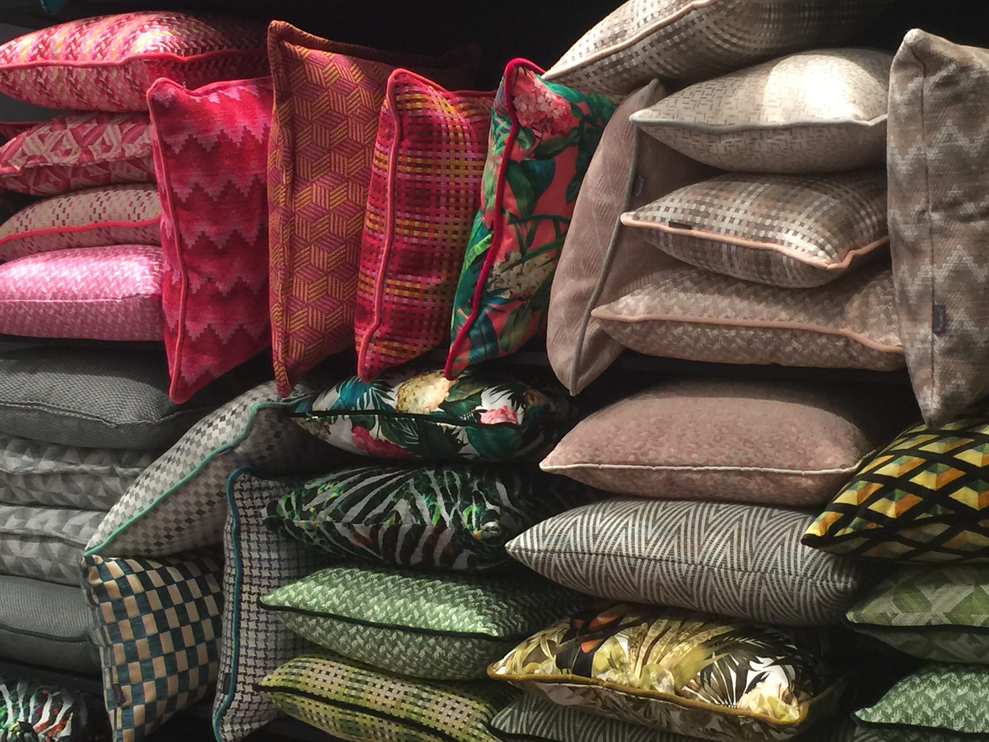 milan update cushions colours textures