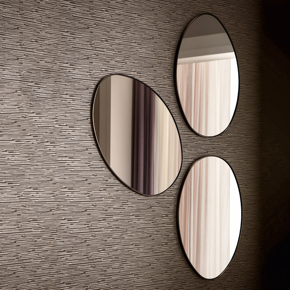 Chelsea Collection, set of 3 pebble shaped mirrors