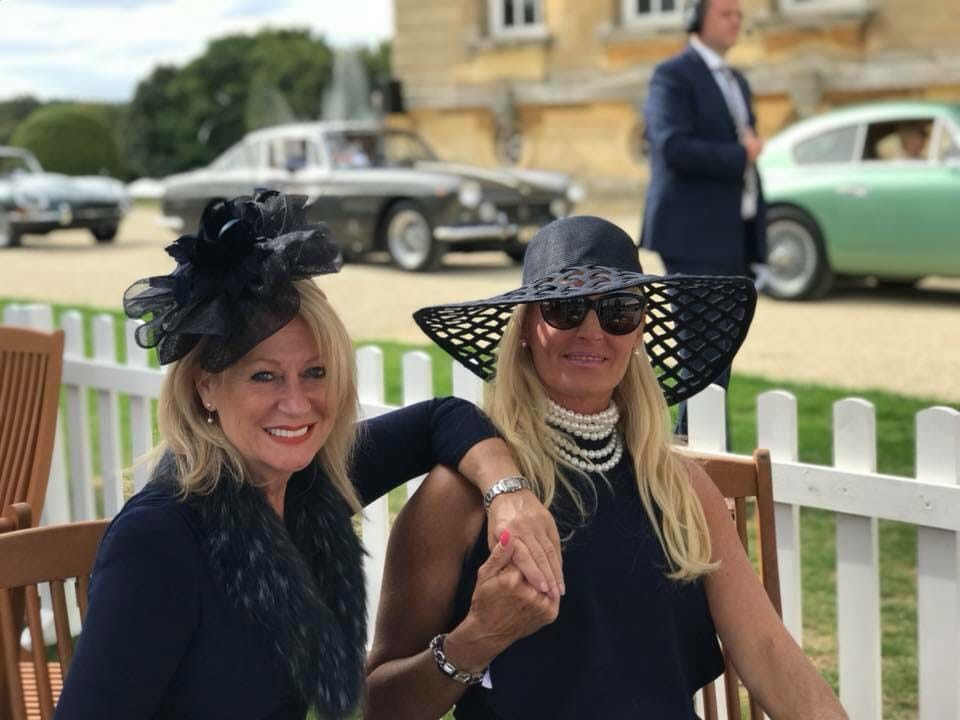 Salon Prive 2018, Juliette and Fiona, DKNY hat