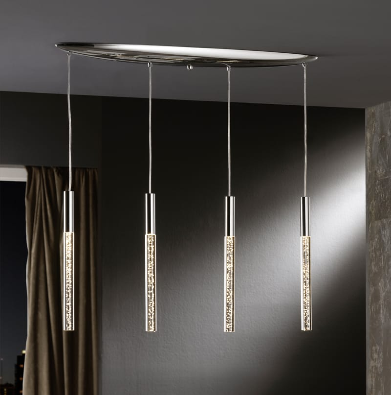 acrylic chrome bubble pendant chandelier