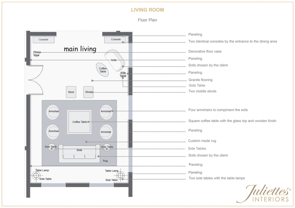 living room floor plan meet the designers Miki