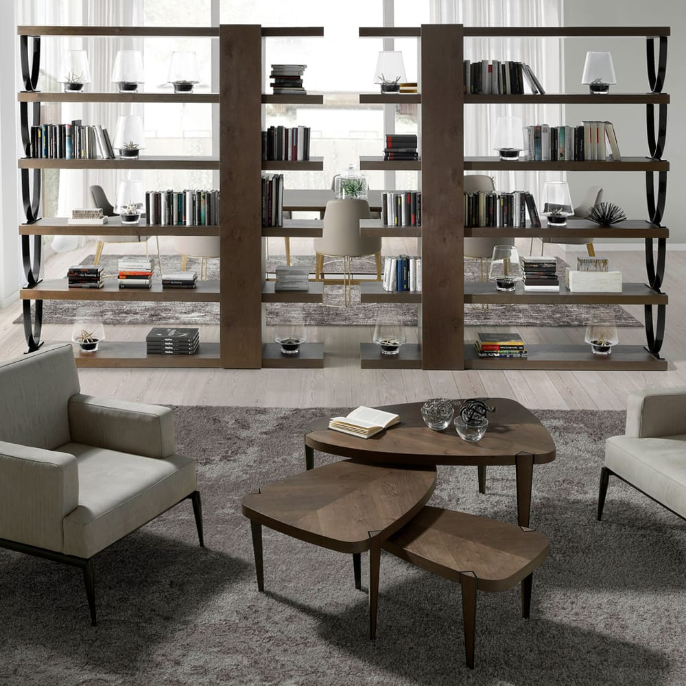 Impress the guests, London Collection bookshelf, contemporary style with aged oak veneer