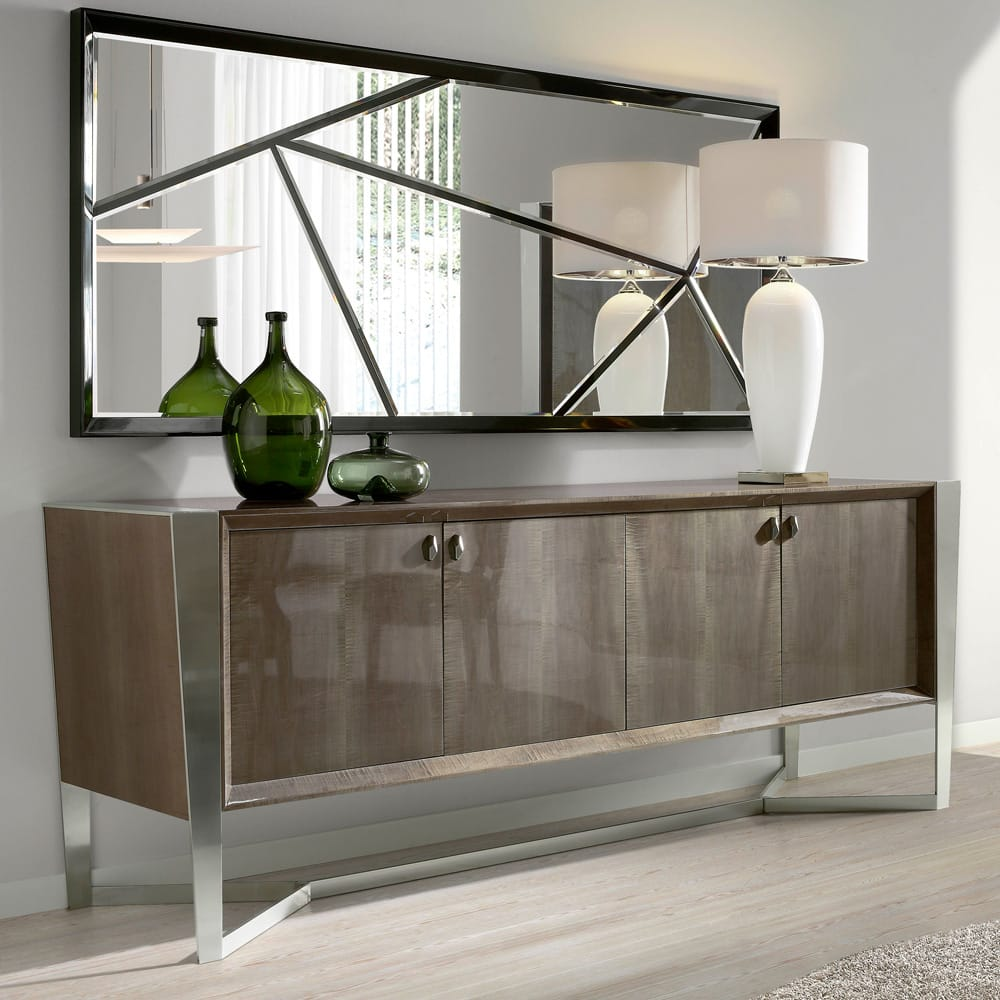 Impress the guests, London Collection sideboard, modern, gloss veneer and chrome