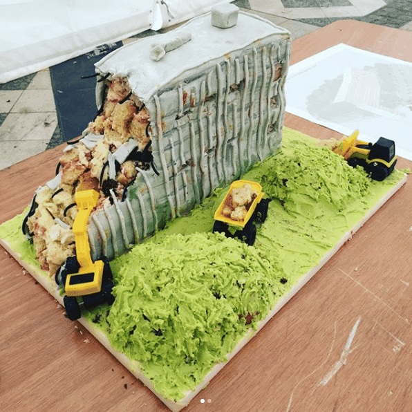 London Metropolitan University Robin Hood Gardens cake London Festival of Architecture Round Up