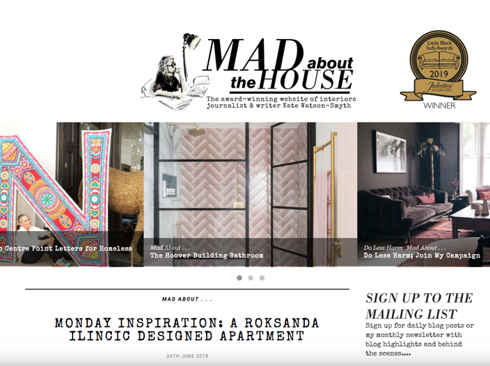 Blog Awards, Mad About the House