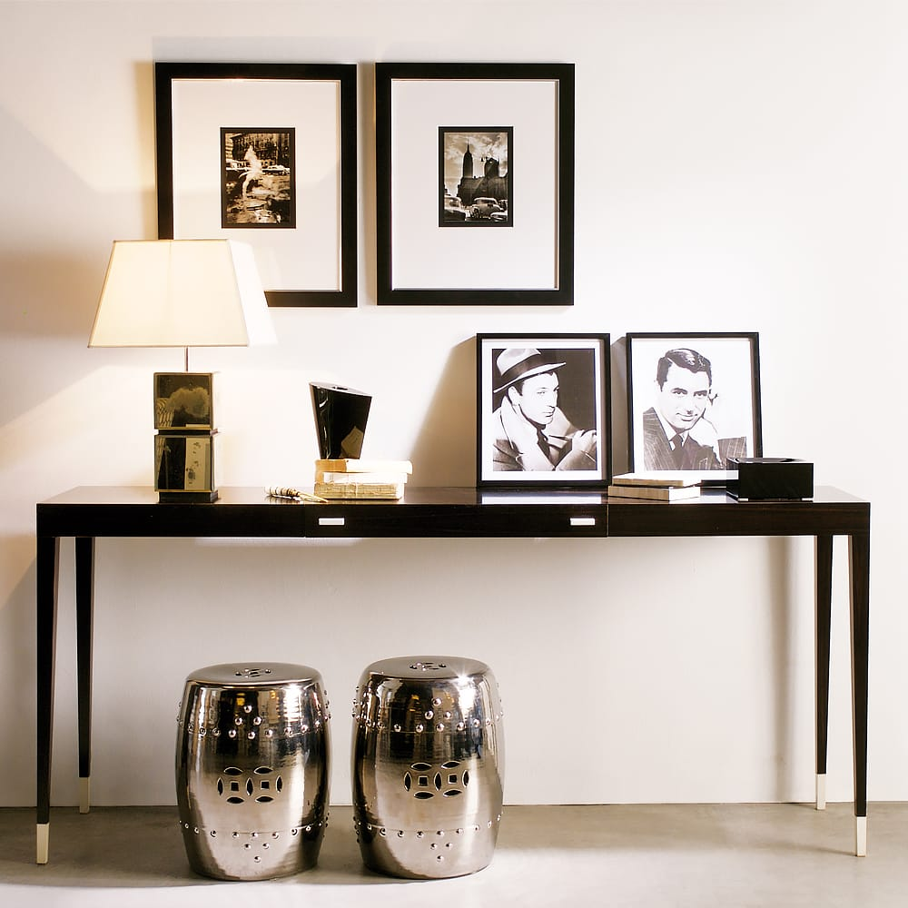 modern contemporary ebony console table