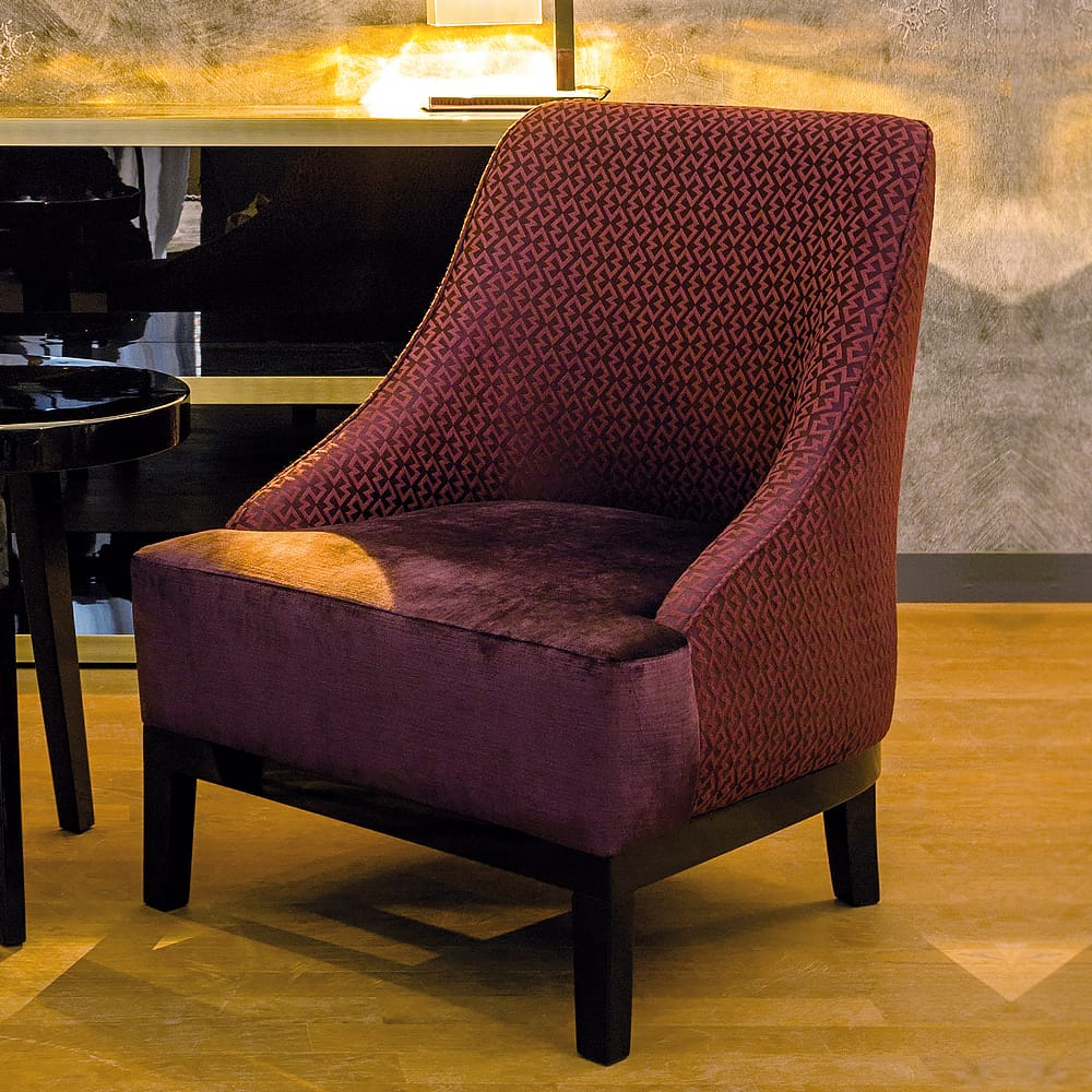 Modern Italian mixed fabric Upholstered Armchair