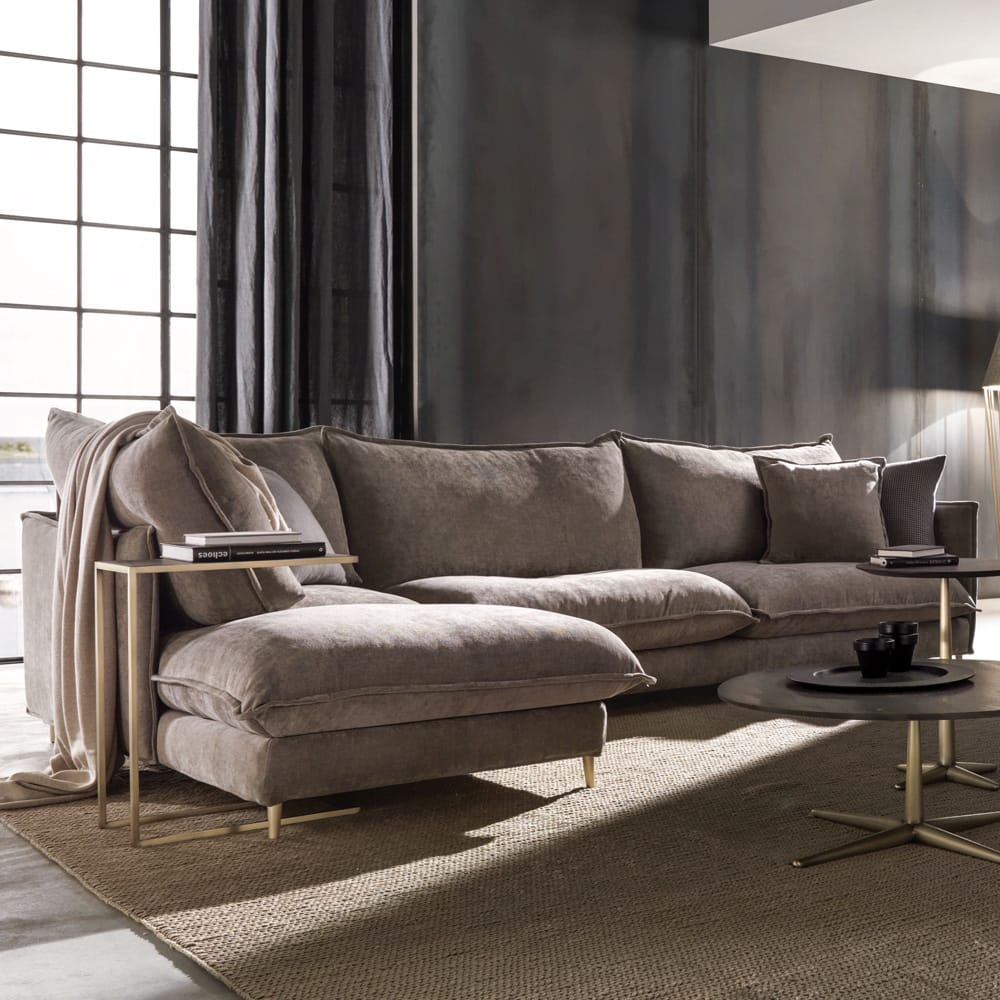 Chelsea Collection, large squashy sofa with chaise end