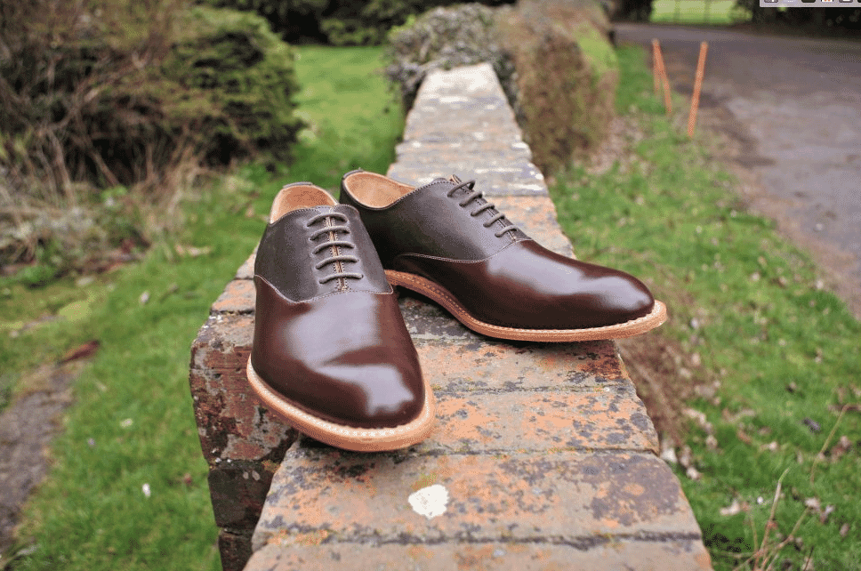 Percy Stride pair of chestnut brogues, men's handmade footwear, Salon Privé 2018