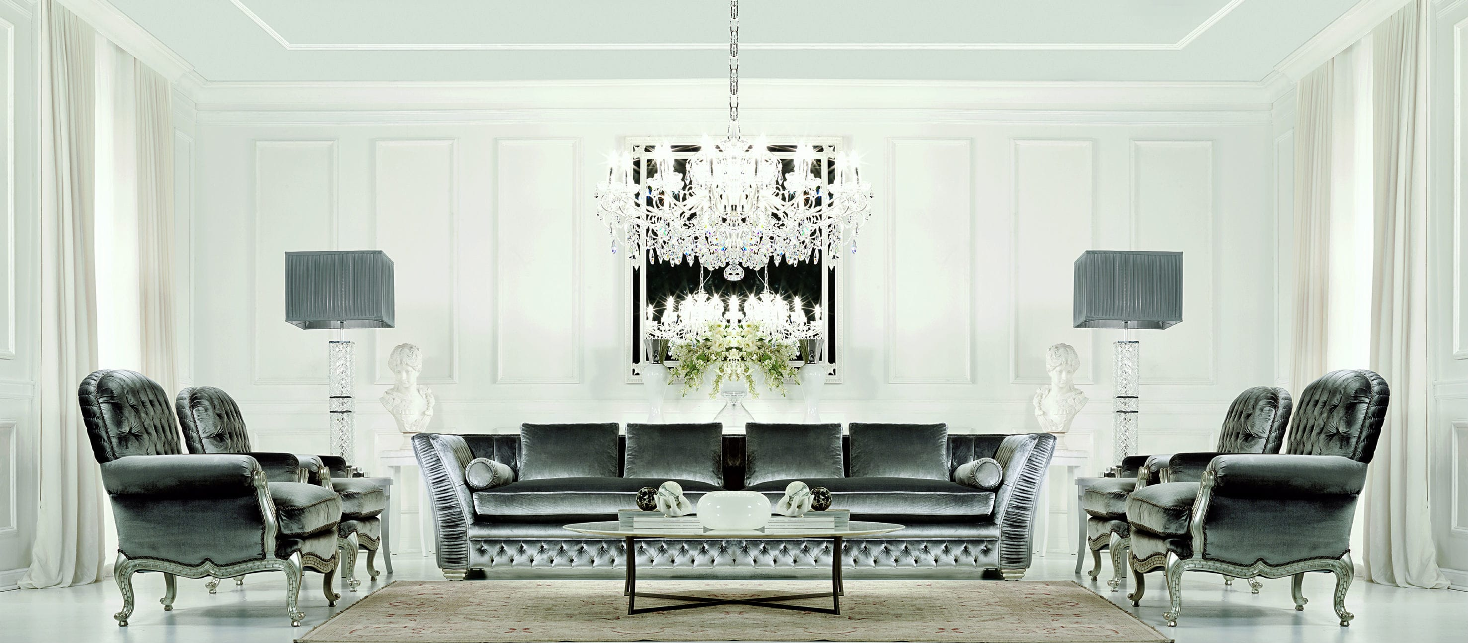 glamorous silver living room project management service trade account