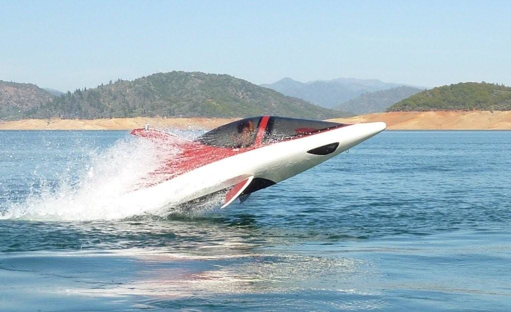 Yacht toys, a seabreacher jumping out of the water