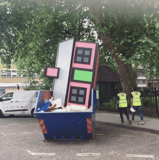 House in a skip Upgrade by Skip Gallery London Festival of Architecture 2018