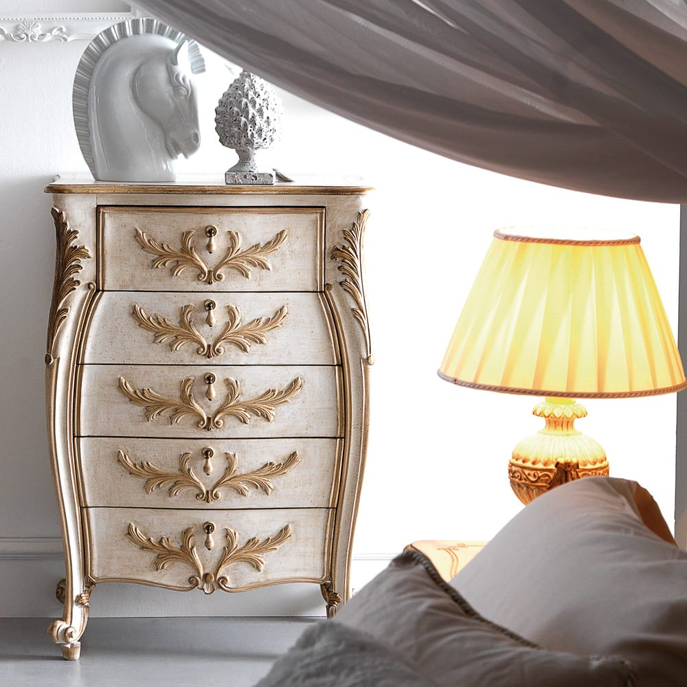 Stylish-Storage-Classic-Italian-Ornate-Narrow-Chest-of-Drawers-4