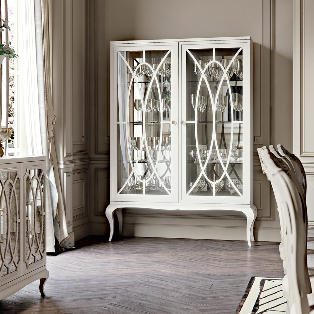 Stylish-Storage-High-End-Italian-White-Fretwork-Mirrored-Cabinet-2