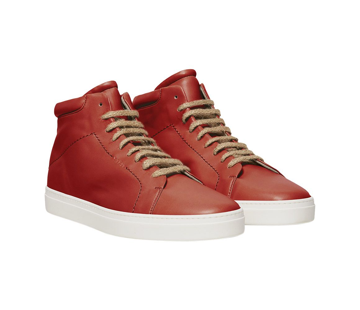 fathers day gift, Yatay vegan high top sneakers, red