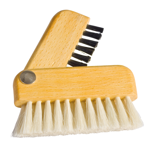 fathers day gift, laptop brush, dual brush, natural bristle