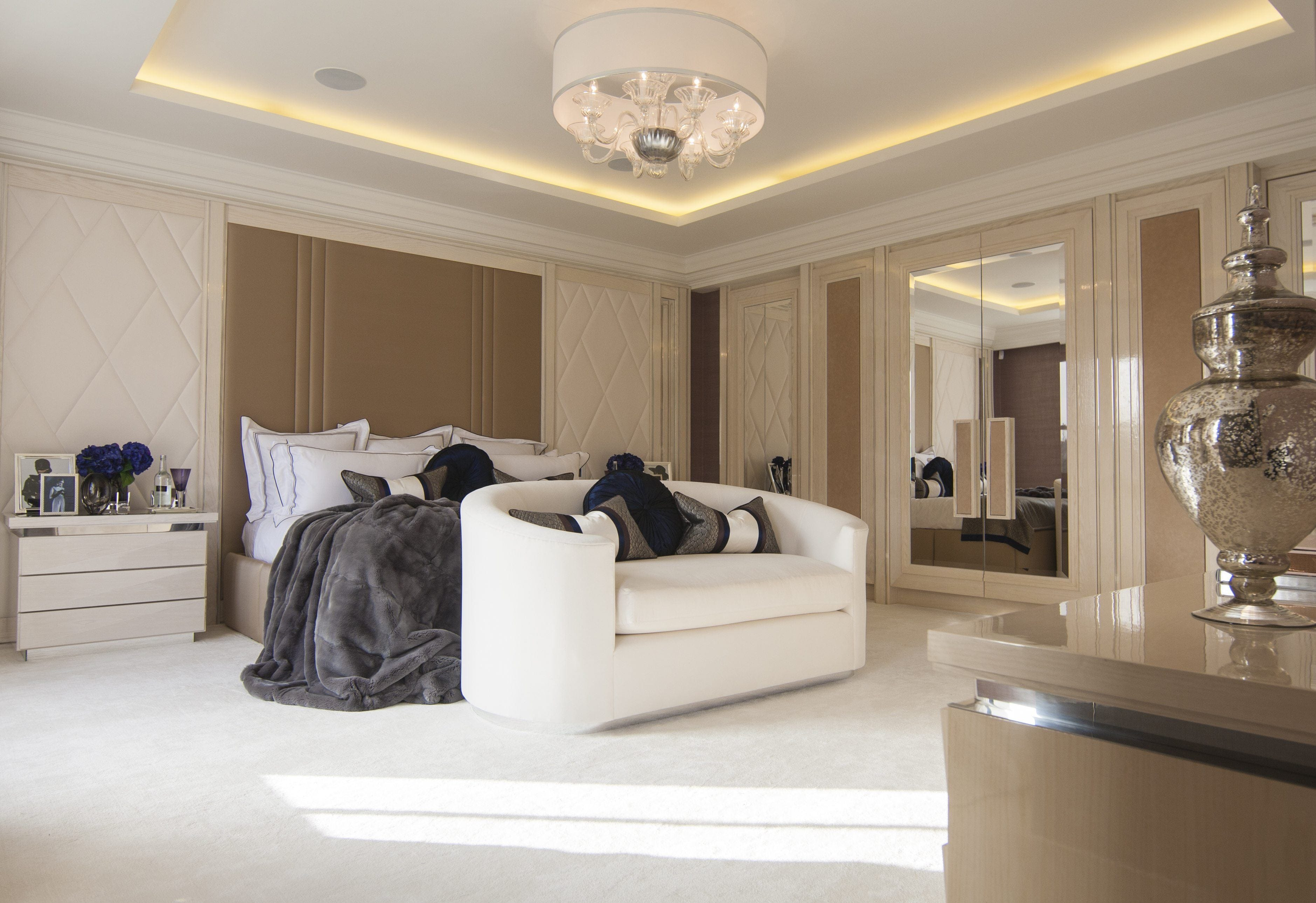 bespoke bedroom design luxury furniture by Juliettes Interiors