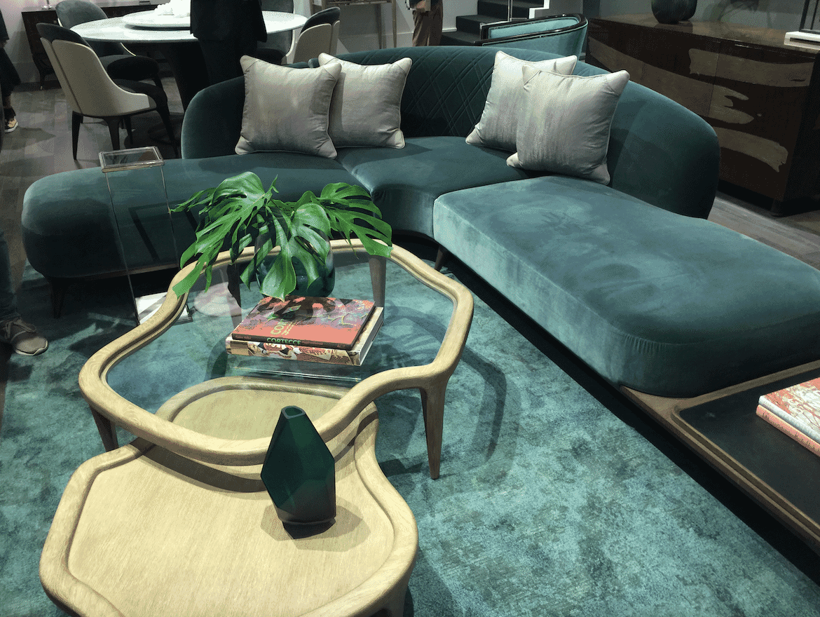 milan update organic shapes curved green sofa shaped tables